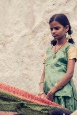 Young girl at Golkonda fort