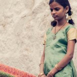 Young girl at Golkonda fort