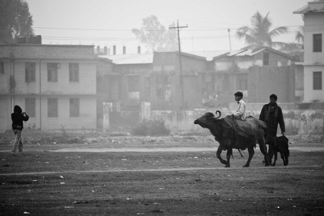 Out for a stroll on Barhabiga: Janakpur