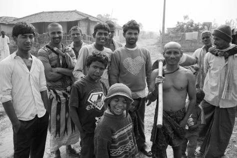 A team of men in the Rural villages
