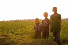 Kids at Sunset
