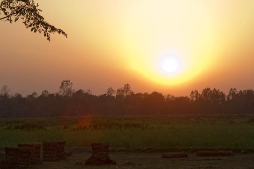 Pixelated sunset
