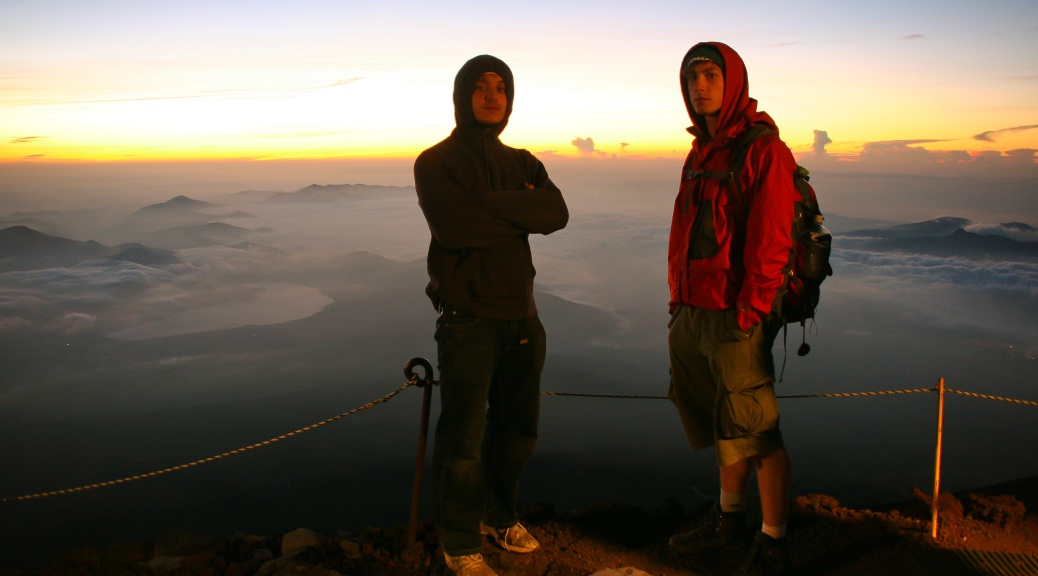 Mt Fuji with Kenzo Ejiri and Seb Roberts