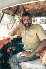 Auto driver posing