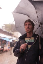 Adam in the rain