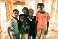 Local Kids in the temple
