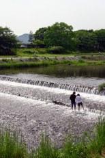 Kyoto riverbank