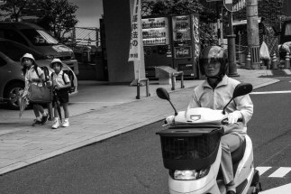 Children and the biker