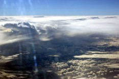 Over the southern ocean
